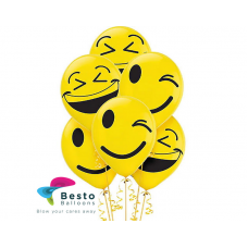 Smiley Face Printed Mix Emojis 12 inch Balloons 100 Pcs Pack