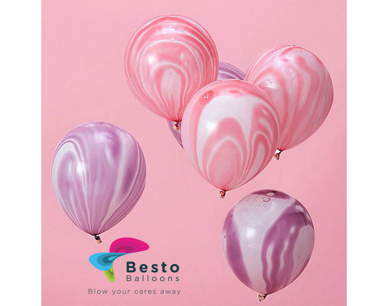 Marble Latex Balloons 12 Inch