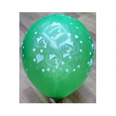 14th August Pakistan Independence Day Special 12 Inch Full Print Balloons 100 Pcs Pack