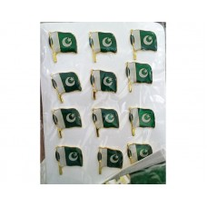 14th August Pakistan Independence Day Special Pin Badges 12 Pcs Pack