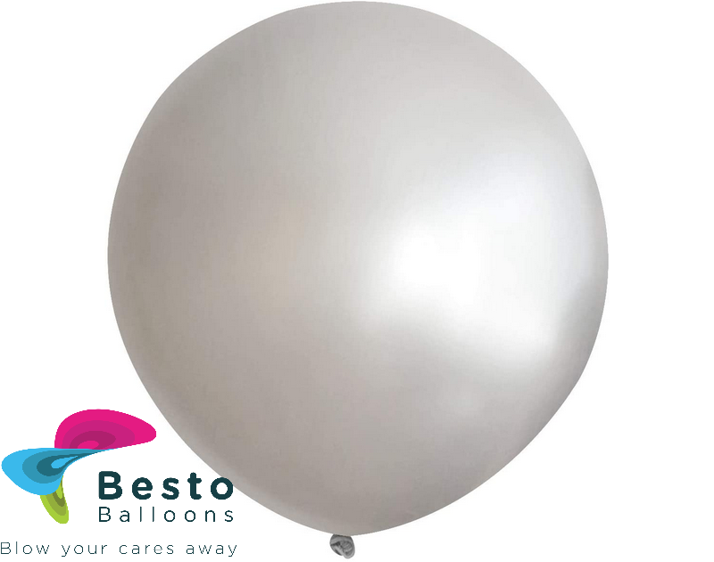 Silver Latex Balloon 18 inch