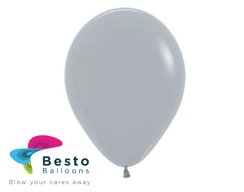 Silver Latex Balloon 9 inch
