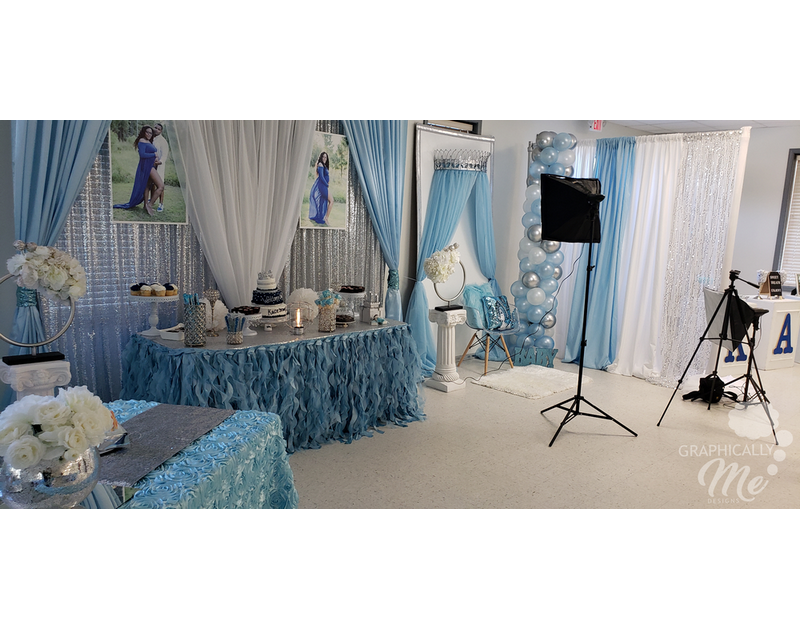 Blue And White Baby Arrival Party