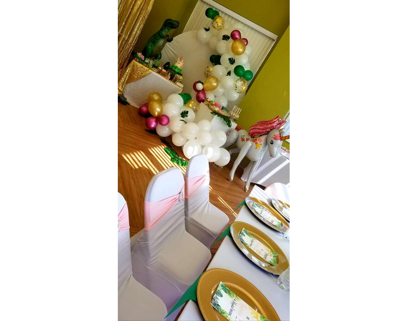 Gender Reveal Dinosaur And Unicorn Party