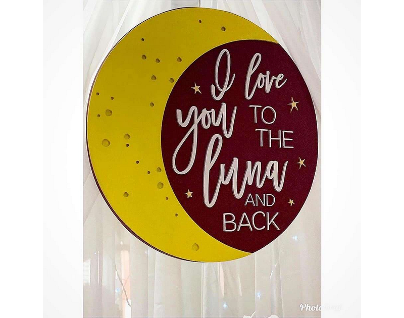 I Love You To The Moon And Back Party