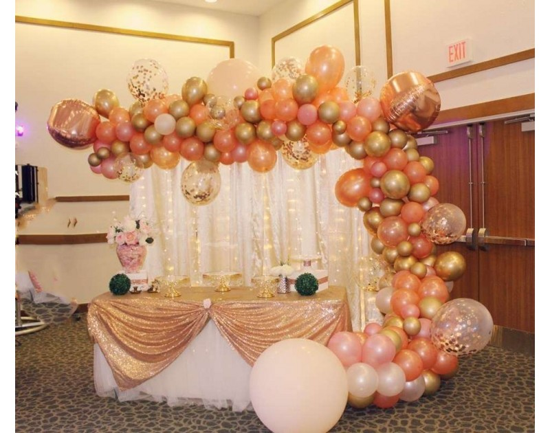 Peach Gold Party