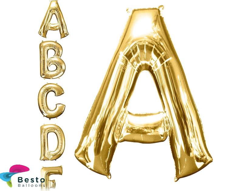 """Golden Alphabet Foil Balloon """"A"""""""