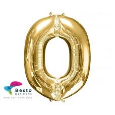 """Golden Alphabet Foil Balloon """"O"""""""