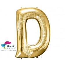 """Golden Alphabet Foil Balloon """"D"""""""