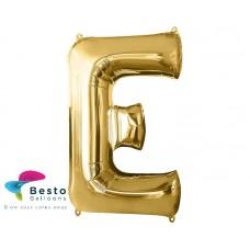 """Golden Alphabet Foil Balloon """"E"""""""