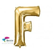 """Golden Alphabet Foil Balloon """"F"""""""