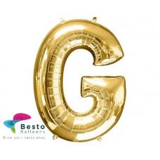 """Golden Alphabet Foil Balloon """"G"""""""