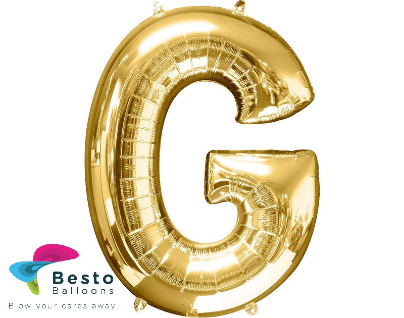 "Golden Alphabet Foil Balloon ""G"""