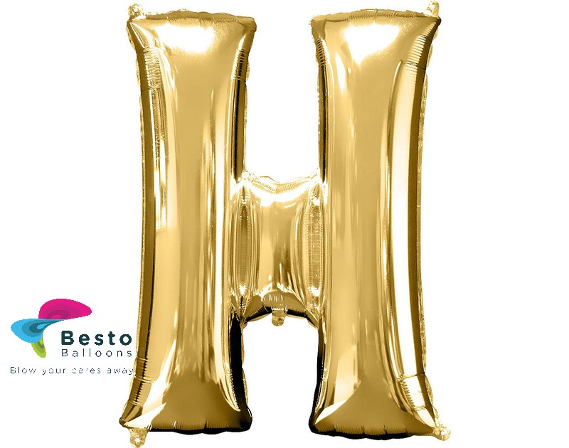 "Golden Alphabet Foil Balloon ""H"""