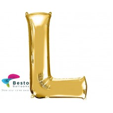 """Golden Alphabet Foil Balloon """"L"""""""