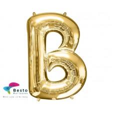 """Golden Alphabet Foil Balloon """"B"""""""