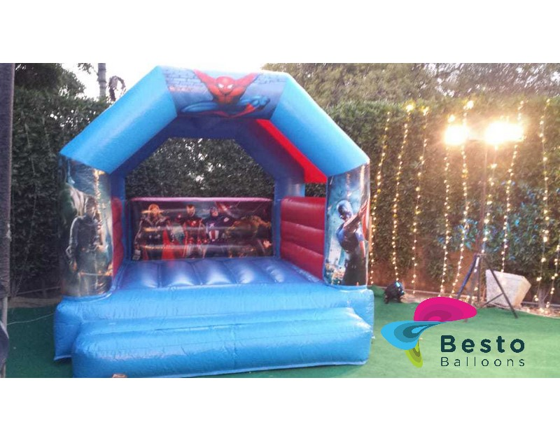 Avengers Bouncing Castle 12x12 Size Rental Service for Karachi Only
