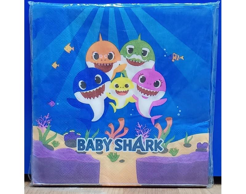Baby Shark Tissues 10 Pcs Pack