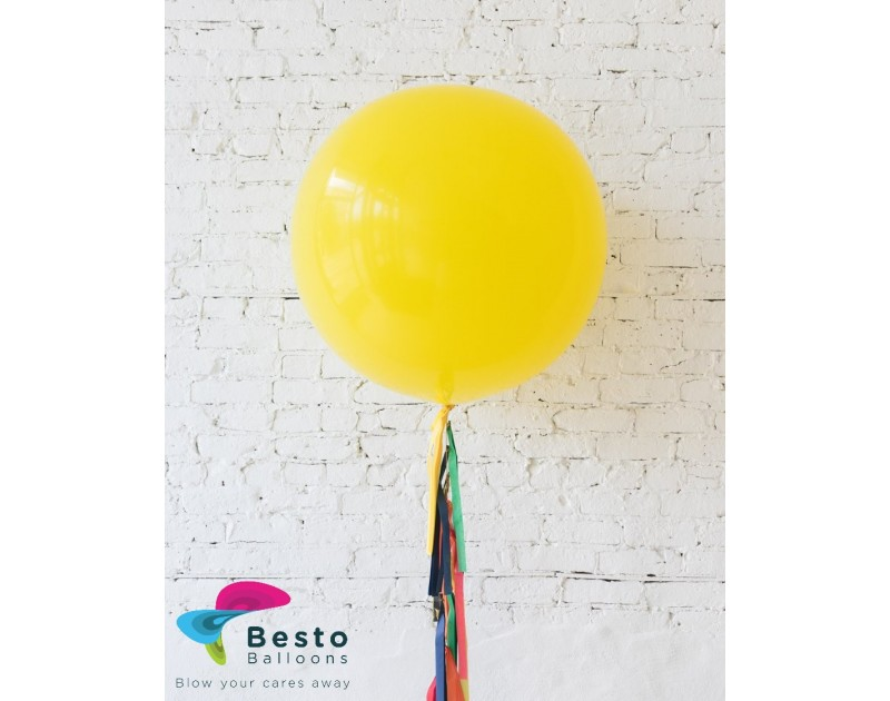 Yellow Giant Balloon and Rainbow Palette