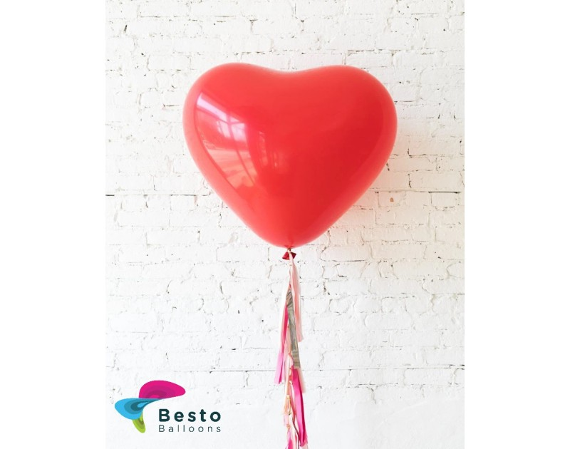 Red Giant Heart Balloon and Shades of Pink Palette