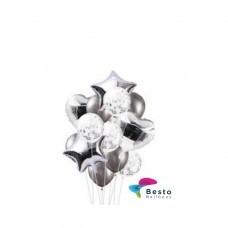 Balloon Bouquet Silver