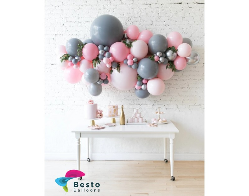 Balloon Decoration Pink Chic