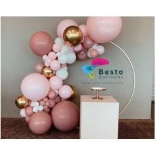 Modern Tan Balloon Garland Decoration - Round