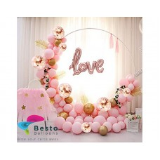 Bliss Peach Balloon Garland Decoration - Round