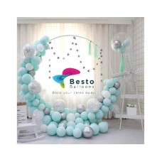 Blue Balloon Garland Decoration - Round