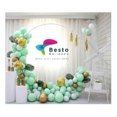 Minty Green Balloon Garland Decoration - Round