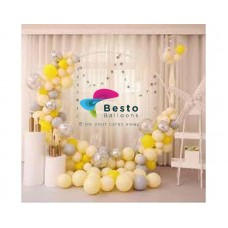 Mild Yellow Balloon Garland Decoration - Round