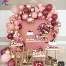 Modern Mauve Balloon Garland Decoration
