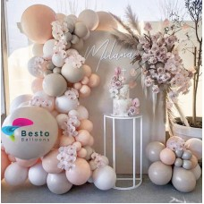 Glam Tan Balloon Garland Decoration