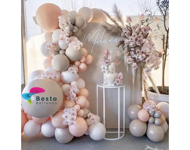 Glam Tan Balloon Garland Decoration