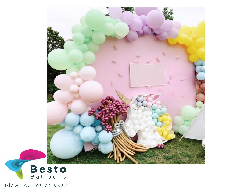 Customise Balloon Garland Decoration - Round