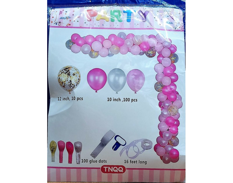 Pink And Golden Confetti DIY Balloon Garland Kit