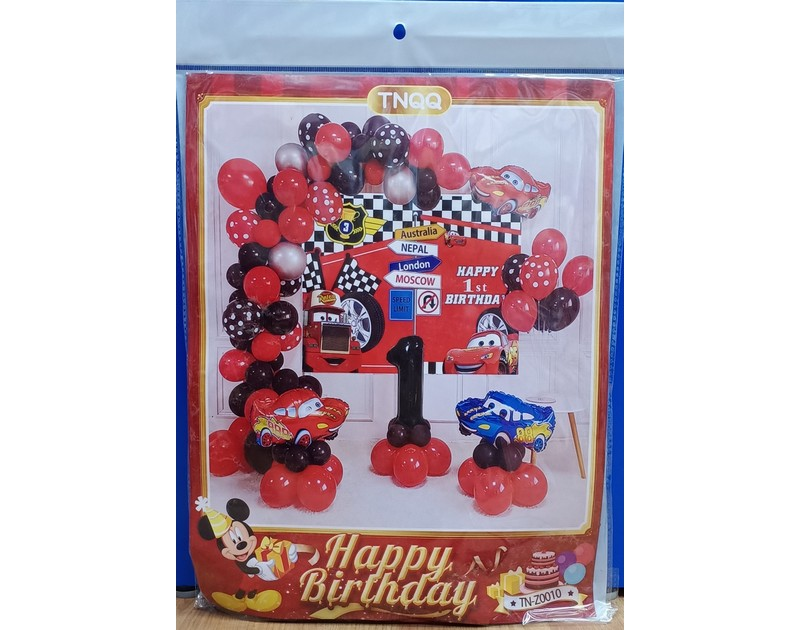 Cars Balloon Garland Kit