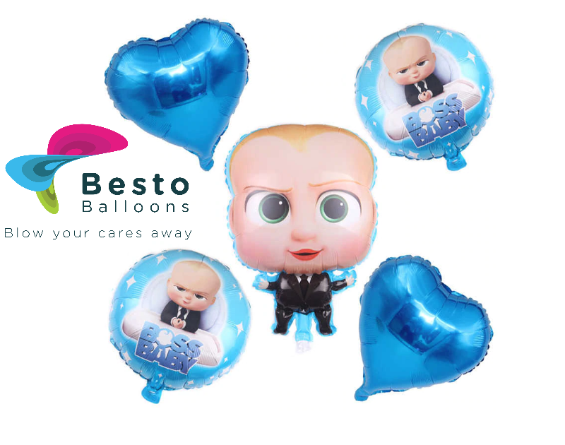 Boss Baby  5 pcs Foil Balloons Bouquet
