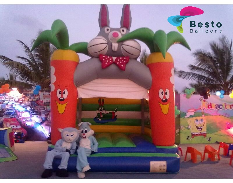 Bugs Bunny Bouncing Castle 12x12 Size Rental Service for Karachi Only