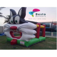 Cat Face Bouncing Castle Large 14x14 Size Rental Service for Karachi Only