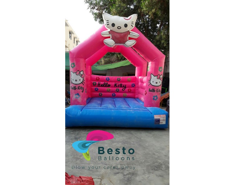 Hello Kitty Bouncing Castle 12x12 Size Rental Service for Karachi Only