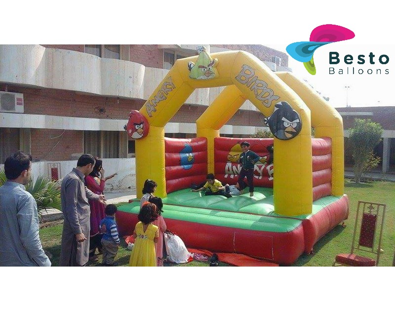 Angry Birds Bouncing Castle 12x12 Size Rental Service for Karachi Only