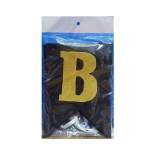 Bride To Be Foam Glitter Chain Black And Golden