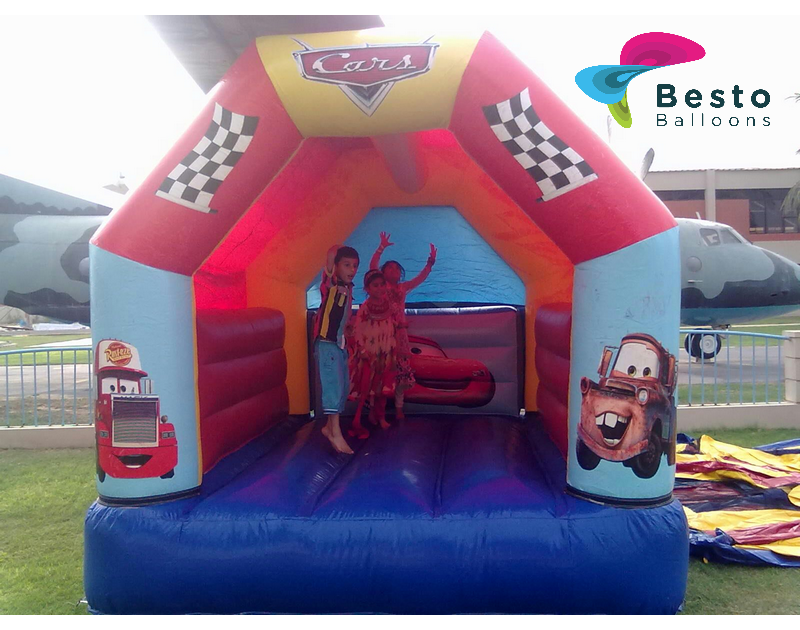 Cars Theme Bouncing Castle Rental