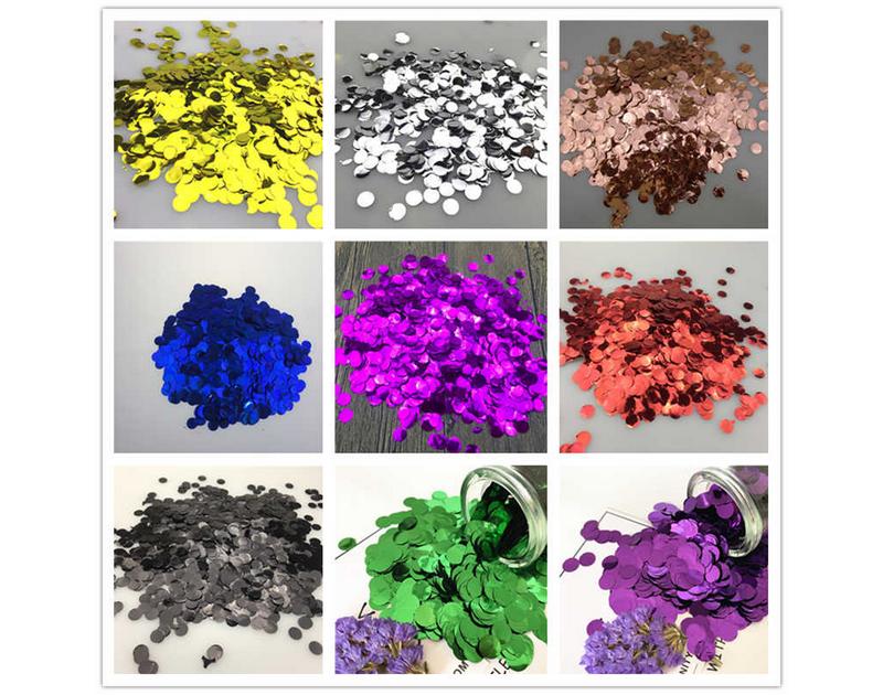Confetti Multicolor Round
