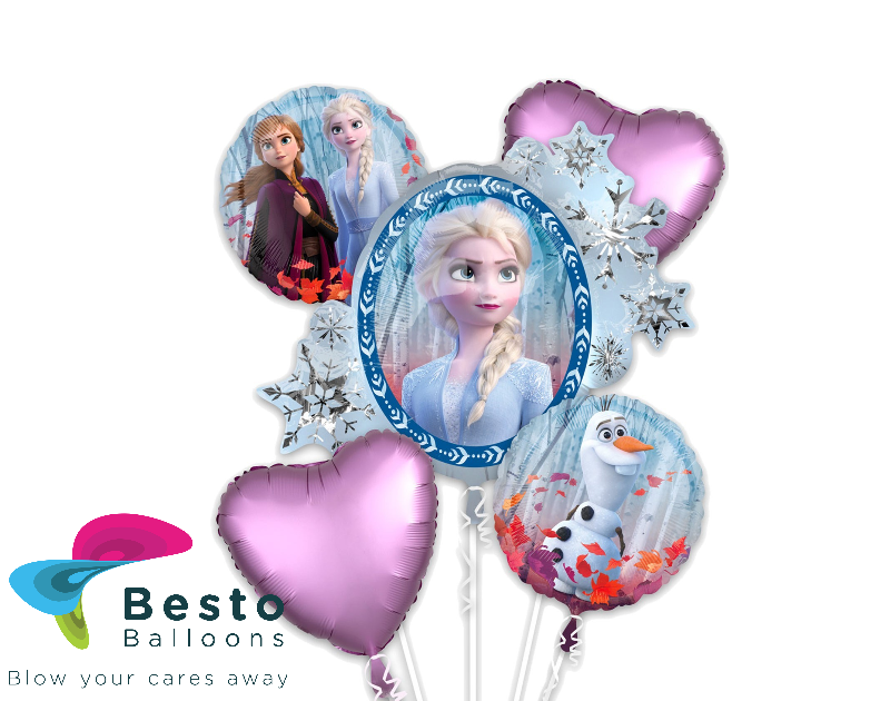 Frozen  Foil Balloon Bouquet 5pc