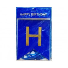 Blue Happy Birthday  Chain