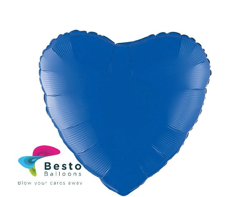 Royal Blue Heart Shape Foil Balloon