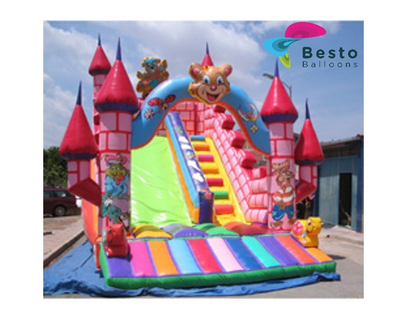 Multicolor Inflatable Slide Rental Service