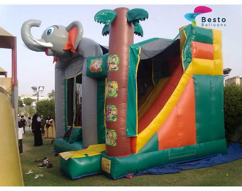 Jungle Inflatable Slides and Bouncing Combo Rental Service